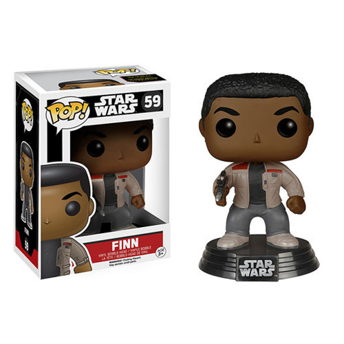 Funko Pop 59 Star Wars VII The Force Awakens Finn Vinyl Bobble-Head Figure (FNK6221)