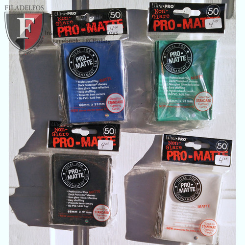 UltraPro Pro MATTE White Non-Glare Deck Protectors (Regular Size- 50 Ct)