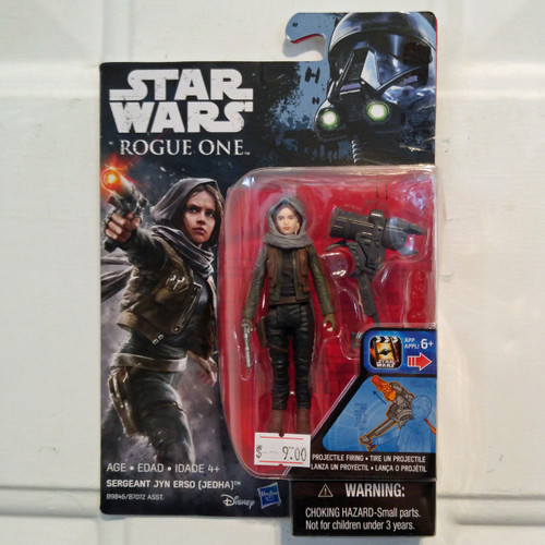 Hasbro Star Wars Rogue One Wave 2 Sergeant Jyn Erso (Jedha) Action Figure (B9846)