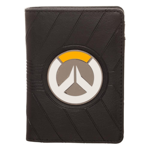 Bioworld Overwatch Metal Badge Logo Vertical Bi-Fold Wallet MW60A4OVW