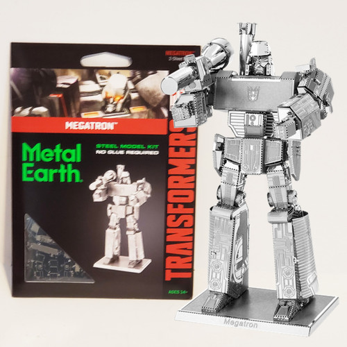 Fascinations Metal Earth Transformers Megatron Decepticon Robot 3D Laser Cut Metal Model Kit MMS303