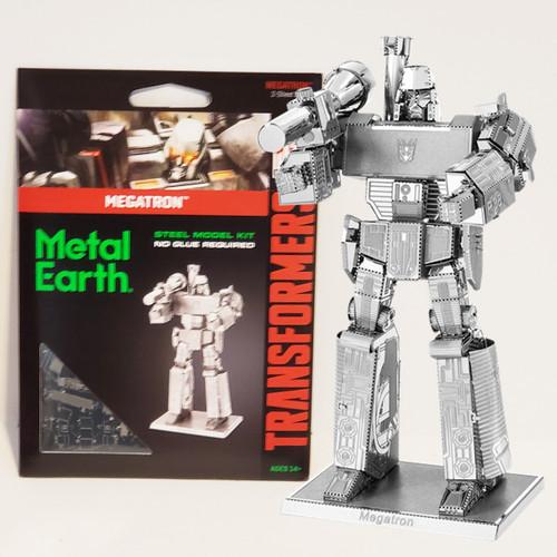 Fascinations Metal Earth Transformers Megatron Decepticon Robot 3D Laser Cut Metal Model Kit MMS303