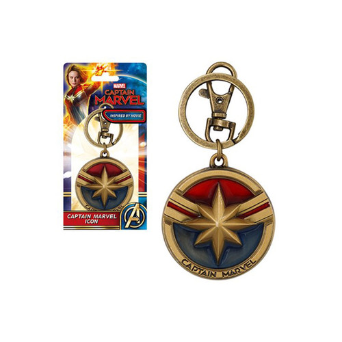 Monogram Captain Marvel Enameled Pewter MCU Key-Chain Key-Ring MG69007
