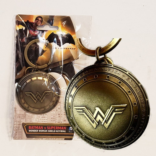 Wonder Woman Logo on Shield Pewter DCU Key-Chain Key-Ring Monogram MG45502
