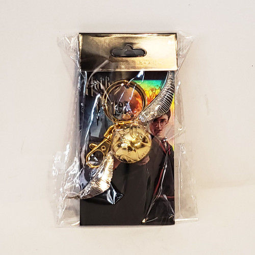 Harry Potter Golden Snitch Pewter Metal Key-Chain Key-Ring Monogram MG48002