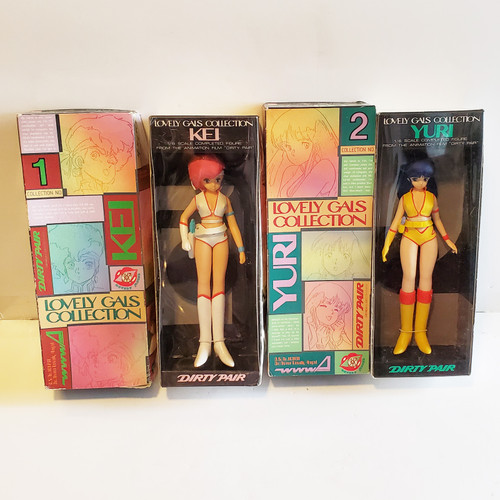 Vintage 1985 Dirty Pair Dolls WWWA Lovely Angels Kei & Yuri Bandai Lovely Gals Collection 1 & 2 BAN4938 BAN49389