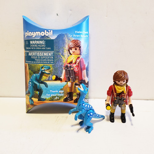 Playmobil Dino Adventure Promo Girl w/ Dinosasaur Figure NYTF Toy Fair 2019 Exclusive