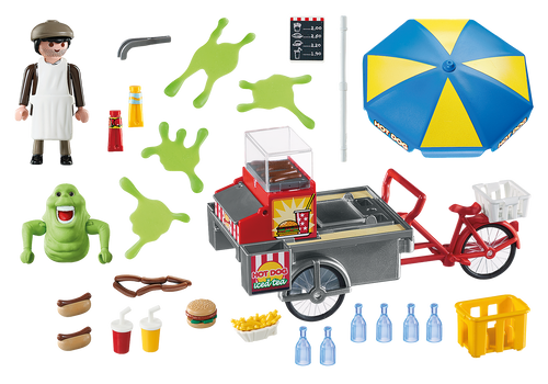 Playmobil 9222 Ghostbusters Slimer with Hot Dog Stand Playset PLM9222