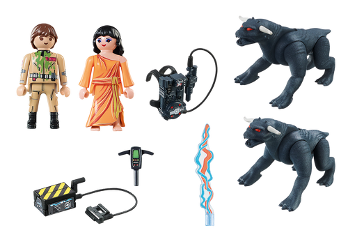Playmobil 9220 Ghostbusters Peter Venkman and Terror Dogs Playset PLM9223