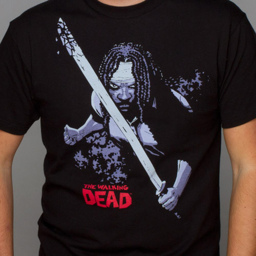 J!NX Walking Dead Michonne XL Black Premium T-Shirt