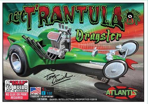 Atlantis Models Tom Daniel Li'l Trantula Show Rod Snap-Together Plastic Model Kit 1/32 Scale M6651
