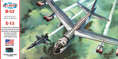 Atlantis Models Boeing B-52 with X-15 Plastic Model Kit 1/175 Scale H273