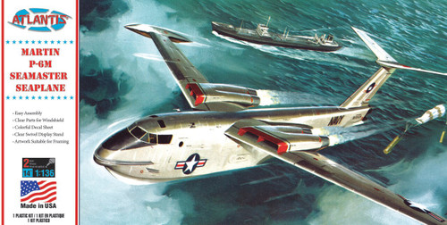 Atlantis Models Martin US Navy P-6M Seamaster Plastic Model Kit 1/136 Scale H244