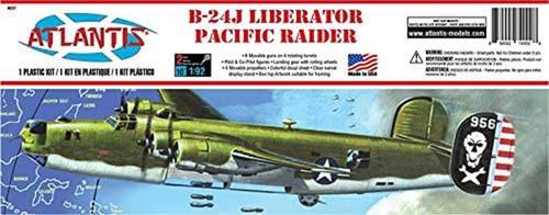 Atlantis Models B-24J Liberator Bomber Pacific Raider Plastic Model Kit 1/92 Scale H237