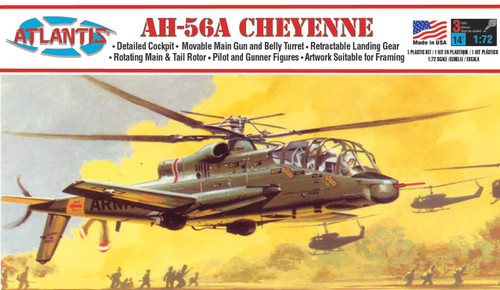 Atlantis Models AH-56A Cheyenne Helicopter Plastic Model Kit 1/72 Scale A506