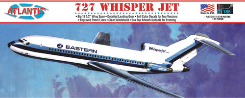 Atlantis Models Boeing 727 Whisper Jet Plastic Model Kit 1/96 Scale A351