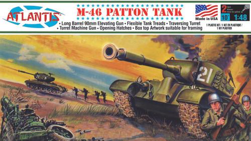 Atlantis Models M-46 Patton Tank Plastic Model Kit 1/48 Scale A301