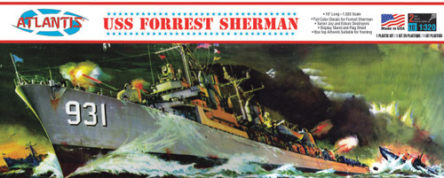 Atlantis Models USS Forrest Sherman Destroyer Plastic Model Kit 1/320 Scale H352