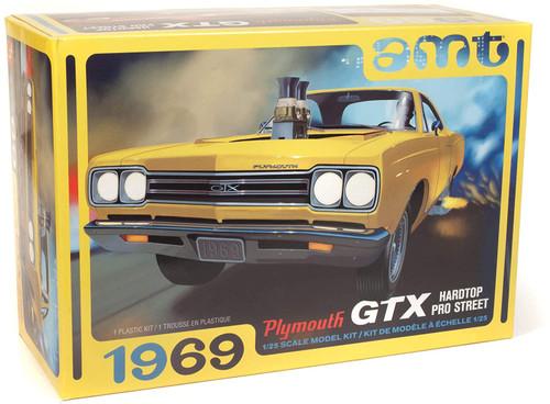 AMT 1969 Plymouth GTX Hardtop Pro Street 2T 1/25 Scale Model Kit #1180
