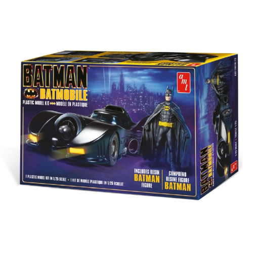 AMT 1989 Batmobile With Figure 1/25 Scale Model Kit #1107