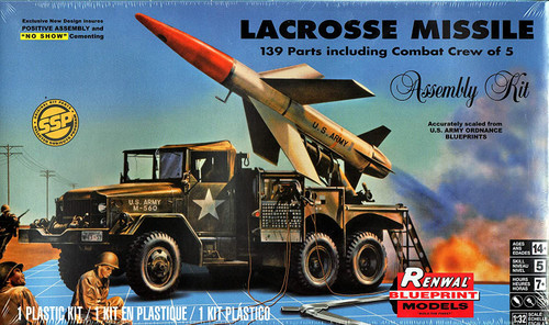 Revell Renwal Blueprint Models LaCrosse Missile System 1/32 Model Kit 85-7824