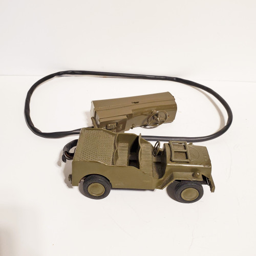 Vintage 1950's Andy Gard Remote Control US Army Jeep Motor Powered Steering