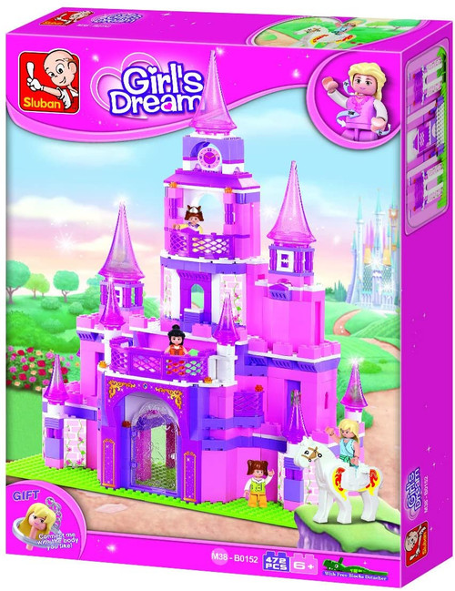Sluban Girl's Dream Princess Castle 472 Piece Building Bricks Set M38-B0152