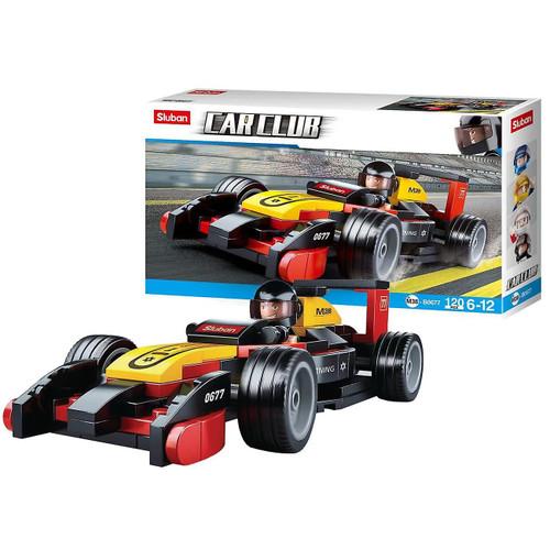 Sluban Car Club F1 Race Car 120 Piece Building Bricks Set M38-B0677
