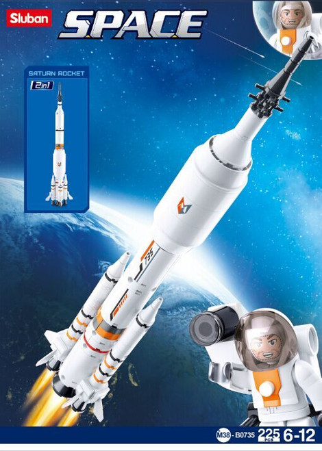 Sluban Space 2-in-1 Rocket 1:240 Scale 167 piece Building Bricks Set