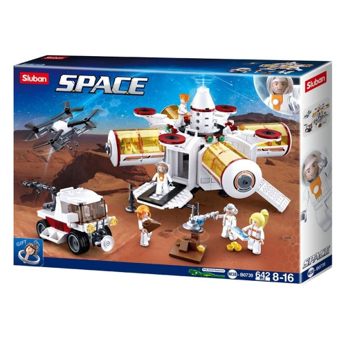 Sluban Space Base 642 Piece Building Bricks Set M38-B0739