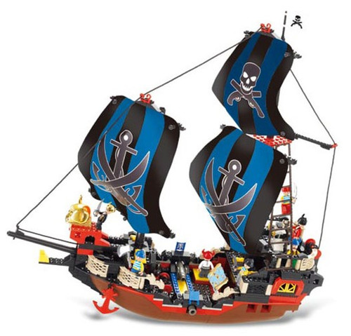 Sluban Pirate Ship Cruco 512 Piece Building Bricks Set M38-B0128