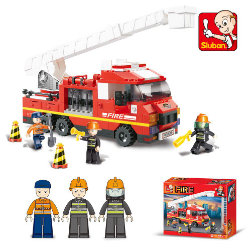 Sluban Fire Engine 270 Piece Building Bricks Set M38-B0221