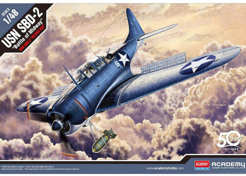 Academy Models US Navy SBD-2 Battle of Midway 1/48 Scale Plastic Model Kit #12335