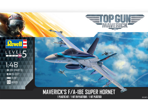 Revell Top Gun Maverick's F/A-18E Super Hornet 1/48 Scale Plastic Model Kit 85-5871