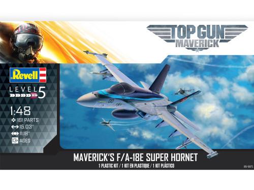Revell Top Gun Maverick's F/A-18E Super Hornet 1/48 Scale Plastic Model Kit 85-5871