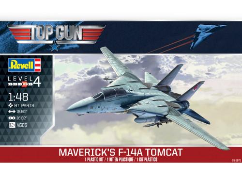 Revell Top Gun Classic Maverick's Grumman F-14A Tomcat 1/48 Scale Plastic Model Kit 85-5872