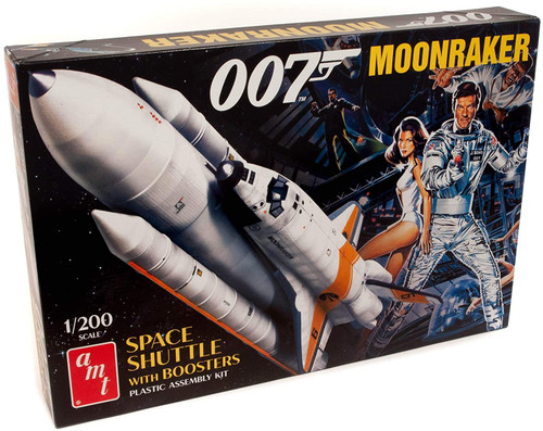 James Bond Moonraker Space Shuttle w/Boosters 1/200 Scale Plastic Model Kit AMT1208