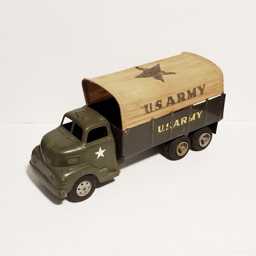 Vintage 1950's Marx US Army Covered Transport 6x6 Truck