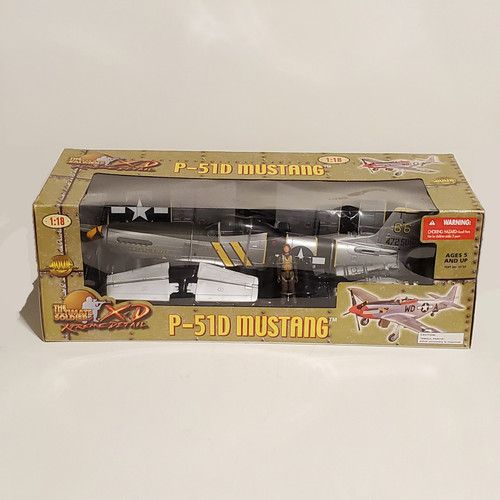 """Ultimate Soldier XD 1:18 P-51D Mustang """"Flying Undertaker"""" USAAF Bill Shomo 82nd TRS 21st Century Toys 10184"""