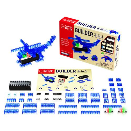 E-Blox Power Blox Builder 4-in-1 STEM.ORG LED Building Bricks Set PB0729