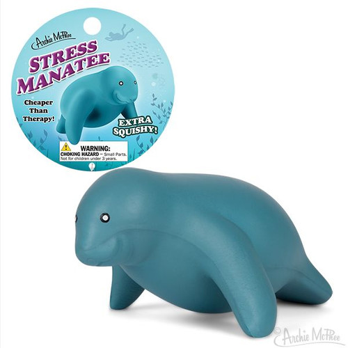 Archie McPhee Squishy Manatee Stress Toy 12809