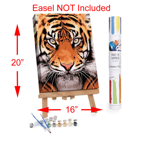Winnie's Picks Adult Paint By Numbers Acrylic Set Tiger Face WP121
