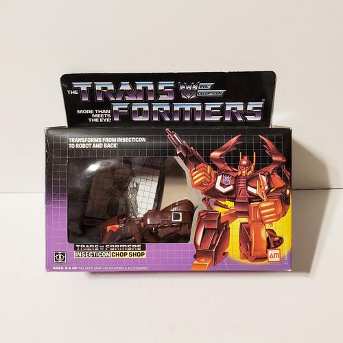 Vintage 1985 Transformers G1 Chop Shop Decepticon Insecticon Action Figure Hasbro Takara #5946