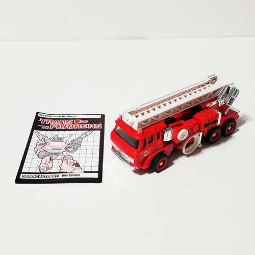 Vintage 1985 Transformers G1 Inferno Autobot Hasbro Takara 5954