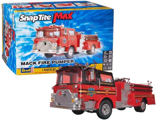 Revell SnapTite Max Mack Fire Pumper Truck 1:32 Scale Plastic Model Kit 85-1225