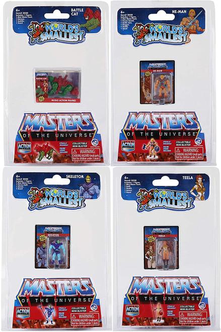 World's Smallest MOTU Masters Of The Universe Micro Action Figures Super Impulse 5030