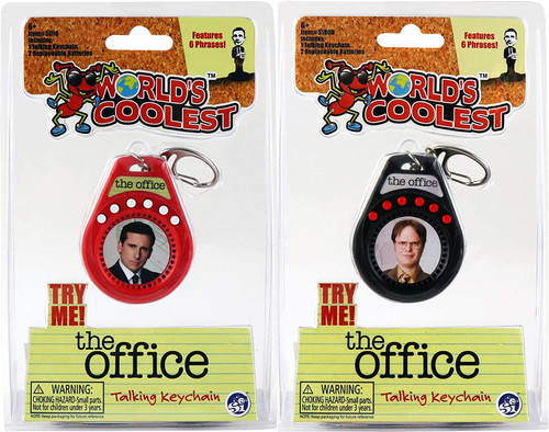 Worlds Coolest The Office Talking Keychain Dwight Schrute and Michael Scott Super Impulse 5018