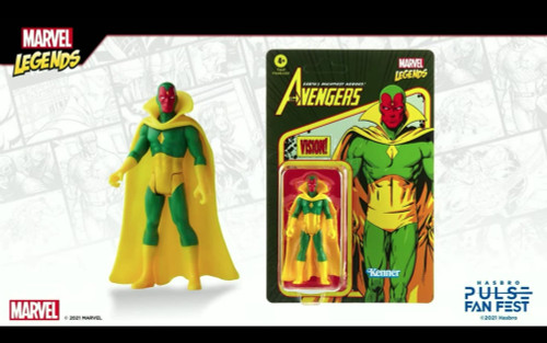 Marvel Legends Kenner Retro Style 3.75 Inch Vision Action Figure Hasbro 61999