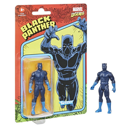 Marvel Legends Kenner Retro Style 3.75 Inch Black Panther Action Figure Hasbro 59280