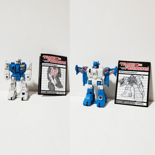 Vintage 1985 Hasbro Transformers G1 Jumpstarter Topspin & Twin Twist Takara Diaclone
